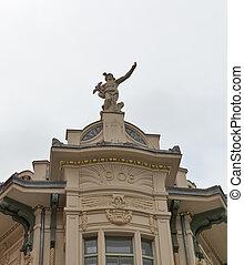 建物, 大商店, 古い, galerija, slovenia., ljubljana, デパート