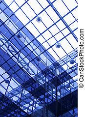 建物, 天井, 透明, オフィス
