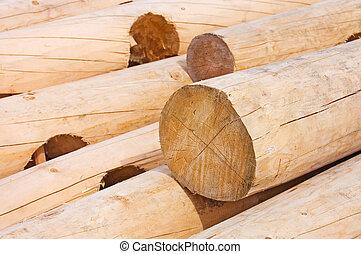 建物, 家, 木材を伐採する