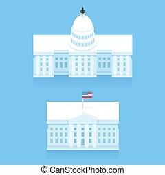 建物, 家, 白, 国会議事堂