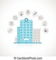 建物, 平ら, 医学