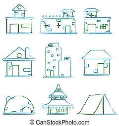 建物, 建築である
