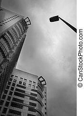 建物, 抽象的, offie