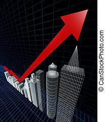 建物, 指すこと, 評価, チャート, 上向き矢印, 特性, 最も高い