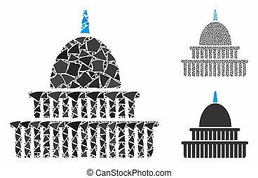 建物, 政府, きずもの, 項目, 構成, アイコン