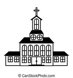 建物, 教会, アイコン