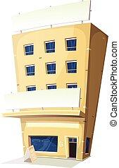 建物, 旅館, 漫画, レストラン