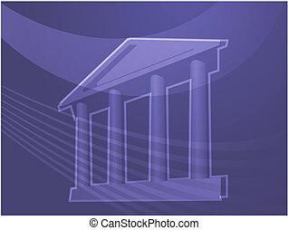 建物, 柱, イラスト, 壮大