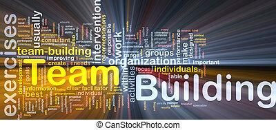 建物, 概念, 白熱, 背景, チーム, 骨