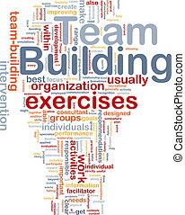 建物, 概念, 骨, 背景, チーム