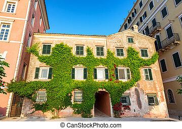 建物, 歴史的, corfu, ギリシャ
