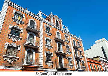 建物, 歴史的, puebla