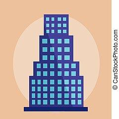 建物, 現代, ベクトル, イラスト