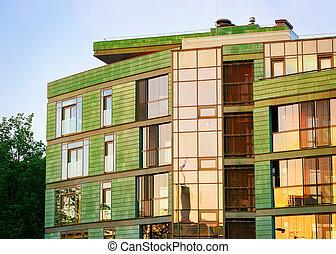 建物, 現代, 贅沢, 外面