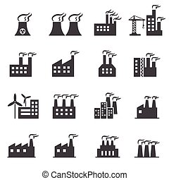 建物, 産業, アイコン