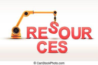 建物, 産業, 単語, ロボティック 腕, 資源
