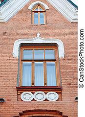 建物, 窓, れんが