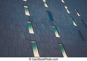 建物, 窓, 現代, オフィス