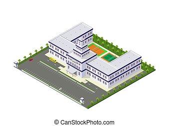 建物, 等大, 大学, 学校, ベクトル, ∥あるいは∥
