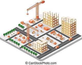 建物, 等大, 建設
