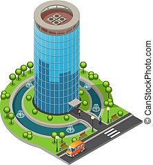 建物, 等大, 概念, オフィス, 現代, ガラス