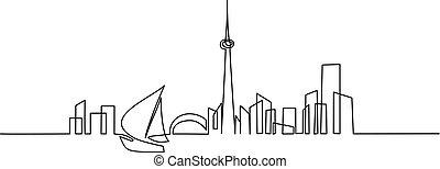 建物, 芸術, 帆, 都市の景観, シルエット, 線, ボート