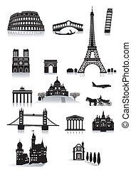 建物, 観光