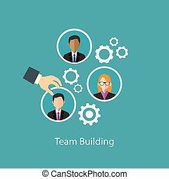 建物, 資源, 人間, チーム