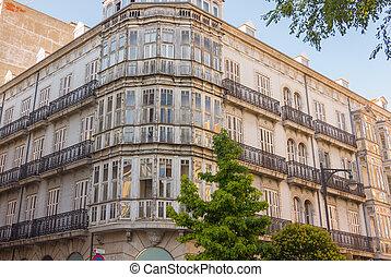 建物, 都市で, の, valladolid, スペイン
