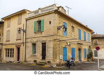 建物, 都市で, 中心, の, arles, -, フランス
