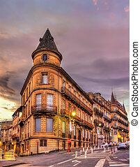 建物, 都市で, 中心, の, beziers, -, フランス