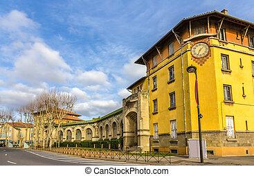 建物, 都市で, 中心, の, carcassonne, -, フランス