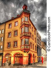 建物, 都市で, 中心, の, koblenz, ドイツ