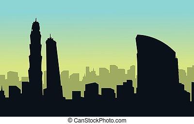 建物, 都市, ドバイ, 風景, コレクション