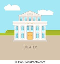 建物, 都市, 劇場, 有色人種