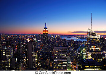 建物, 都市, 州, ヨーク, 新しい, 帝国, マンハッタン