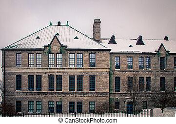 建物, 都市, 歴史的, ケベック
