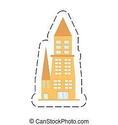 建物, 都市, 漫画, 建築