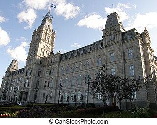 建物, 都市, 議会, ケベック