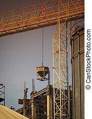 建物, 重い, 仕事, 道具, 労働者, サイト, 建設, constructure