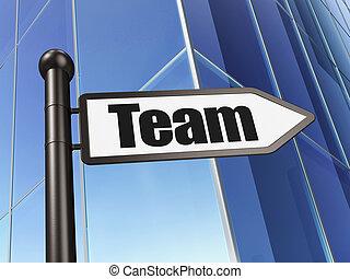 建物, 金融, 印, 背景, チーム, concept: