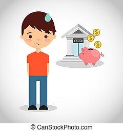 建物, 金融, 銀行, アイコン