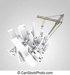 建物, 開発, 概念
