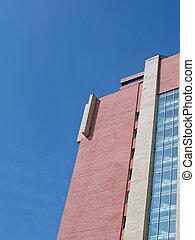 建物, 青い空, 建設, れんが, 赤