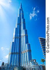 建物, 29, 828m., 最も高い, 光景, -, 29, burj, ダウンタウンに, ドバイ, uae., 11...