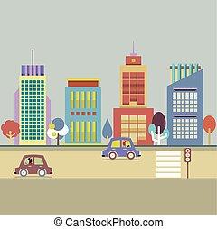 建物, city.