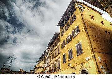 建物, croce, フィレンツェ, 広場, santa