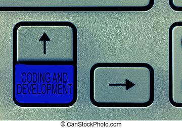 建物, development., 単語, プログラミング, ビジネス, プログラム, 単純である, テキスト, コーディング, 執筆, 概念, アセンプリ