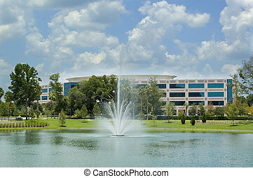 建物, fountain., オフィス