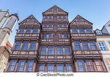 建物, hildesheim, ファサド, 歴史的, wedekindhaus